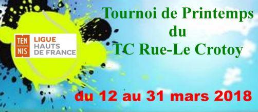 Tournoi de printemps du 12 au 31 mars prochain