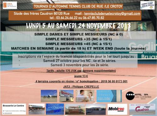 Tournoi d'automne du 5 au 24 novembre 2018