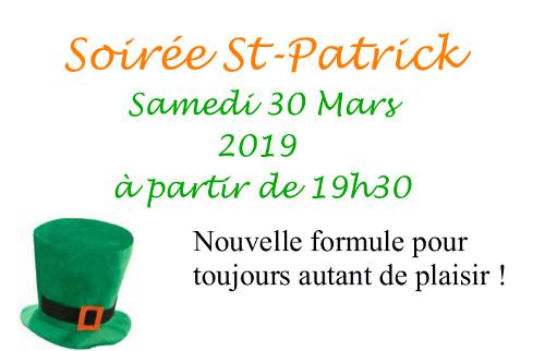 Soirée Saint Patrick ...